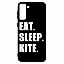 Чохол для Samsung S21+ Eat, sleep, kite