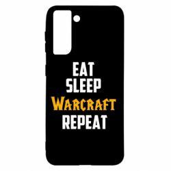 Чехол для Samsung S21 Eat sleep Warcraft repeat