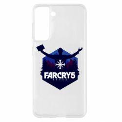 Чохол для Samsung S21 Far cry 5 silhouette Joseph Seed