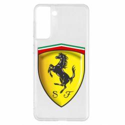Чехол для Samsung S21+ Ferrari 3D Logo