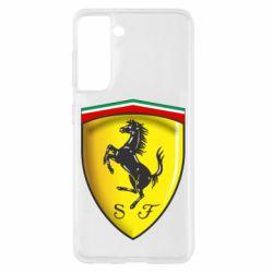 Чехол для Samsung S21 Ferrari 3D Logo