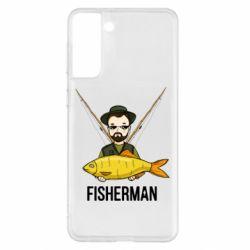 Чохол для Samsung S21+ Fisherman and fish
