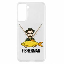 Чохол для Samsung S21 Fisherman and fish