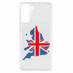 Чехол для Samsung S21+ Флаг Англии