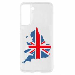 Чехол для Samsung S21 Флаг Англии