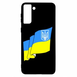 Чохол для Samsung S21+ Прапор з Гербом України