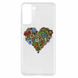 Чохол для Samsung S21+ Flower heart