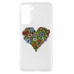 Чохол для Samsung S21 Flower heart