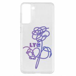 Чехол для Samsung S21+ Flowers line bts