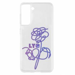 Чехол для Samsung S21 Flowers line bts