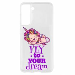 Чохол для Samsung S21 Fly to your dream and lion