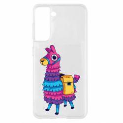 Чохол для Samsung S21 Fortnite colored llama