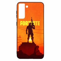 Чехол для Samsung S21+ Fortnite minimalist silhouettes