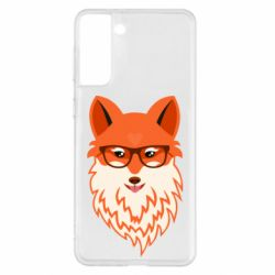 Чехол для Samsung S21+ Fox with a mole in the form of a heart
