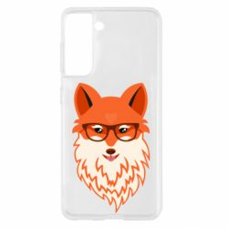 Чехол для Samsung S21 Fox with a mole in the form of a heart