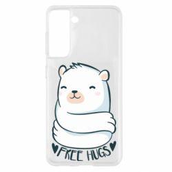 Чохол для Samsung S21 Free hugs bear
