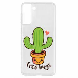 Чохол для Samsung S21+ Free Hugs Cactus