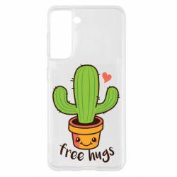 Чохол для Samsung S21 Free Hugs Cactus