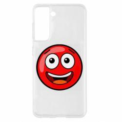 Чохол для Samsung S21 Funny Red Ball