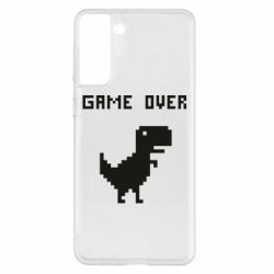 Чехол для Samsung S21+ Game over dino from browser