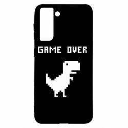 Чехол для Samsung S21 Game over dino from browser