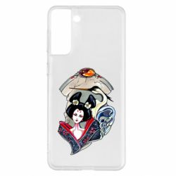 Чехол для Samsung S21+ Geisha and crane