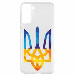 Чехол для Samsung S21+ Герб из ломанных линий