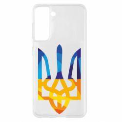 Чехол для Samsung S21 Герб из ломанных линий