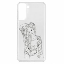 Чехол для Samsung S21+ Girl with dreadlocks