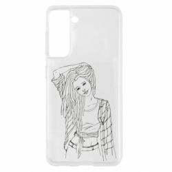 Чехол для Samsung S21 Girl with dreadlocks