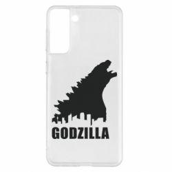 Чохол для Samsung S21+ Godzilla and city
