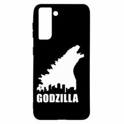 Чохол для Samsung S21 Godzilla and city