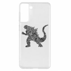 Чохол для Samsung S21+ Godzilla from the newspapers
