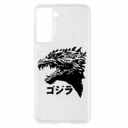Чохол для Samsung S21 Godzilla in japanese