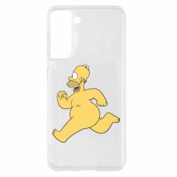 Чехол для Samsung S21 Голый Гомер Симпсон