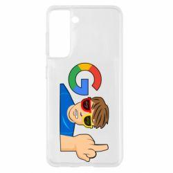 Чохол для Samsung S21 Google guy Fuck You