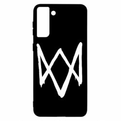 Чехол для Samsung S21+ Graffiti Watch Dogs logo