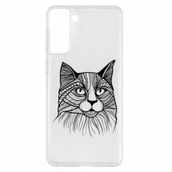 Чохол для Samsung S21+ Graphic cat