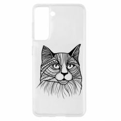 Чохол для Samsung S21 Graphic cat