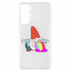 Чохол для Samsung S21 Gravity Falls, dwarf and rainbow