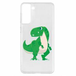 Чохол для Samsung S21+ Green little dinosaur