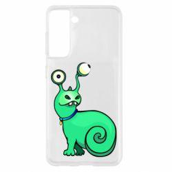 Чехол для Samsung S21 Green monster snail