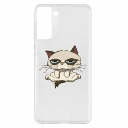 Чохол для Samsung S21+ Grumpy Cat Art nope