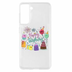 Чохол для Samsung S21 Happy Birthday