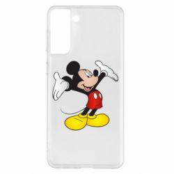 Чохол для Samsung S21+ Happy Mickey Mouse