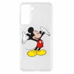 Чохол для Samsung S21 Happy Mickey Mouse