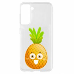 Чохол для Samsung S21 Happy pineapple