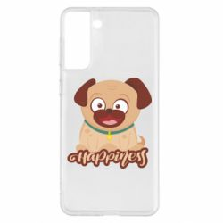 Чехол для Samsung S21+ Happy pug