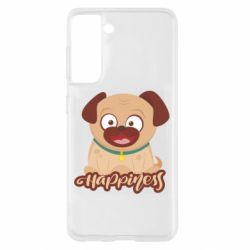 Чехол для Samsung S21 Happy pug