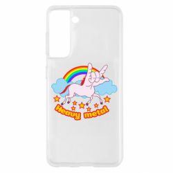 Чехол для Samsung S21 Heavy metal unicorn